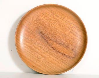 Turned Wood Plate, American Lacewood, Salad Plate, Handturned