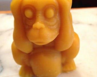 Hear No Evil Monkey Paraffin Candle