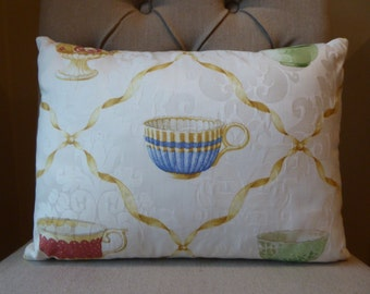 Adorable teacup 12x16 pillow cover
