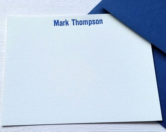 Personalized Letterpress Stationery for Men or Women