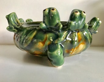 Vintage Turtle Pottery Bowl
