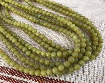 Butter Jade Beads 5mm 24 beads