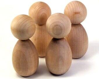 Kokeshi Dolls - 16 Medium Figures - Ready To Paint Wooden Dolls