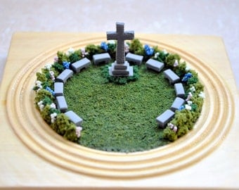 Outdoor Church - Outdoor Church Garden Handmade Garden Scene Religious Gift Handmade Diorama Church