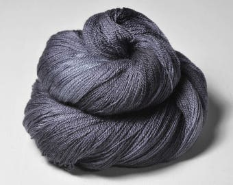 Gothic periwinkle OOAK - Merino/Silk/Cashmere Fine Lace Yarn