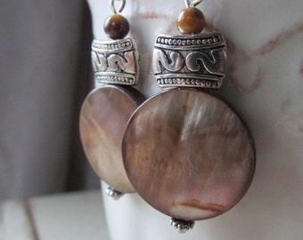 Amber Shell Earrings - Gift Under 20