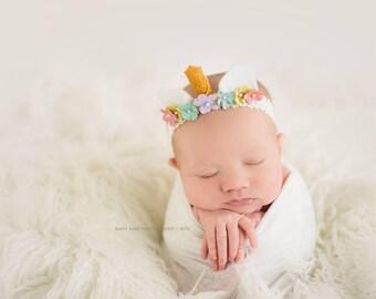 Newborn Unicorn Headband | Unicorn Birthday | Unicorn Party | Unicorn Head Piece | Unicorn Photo Prop | Newborn Photography