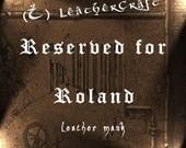 Leather half mask - RESERVED for Roland