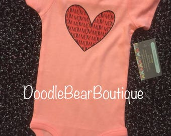 Baby Onesie- Heart mom