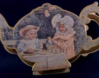 Vintage Children's B. Shackman & Co. Tea Set Container, C1983