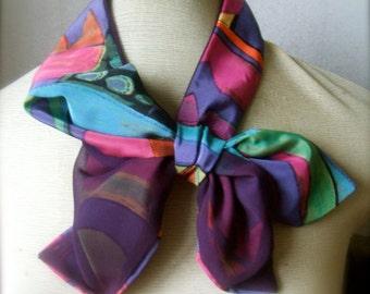Neck Kerchief, Neck Scarf, Geometric Scarf, Light Scarf, Scarflette, Small Scarf Lightweight Scarf, Summer, Fashion trends, Gift Idea