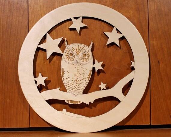 Owl Wall Art, Warm Pot Trivet, Pattern T13, Laser Engraved, Paul Szewc, Masterpiece Laser