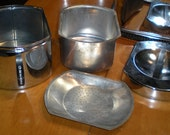 Kromex 1950s Grease Container and Salt and Pepper Shaker with free shipping