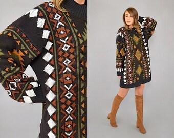 80's Southwestern OVERSIZED Sweater/Dress