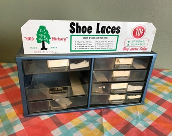 Old Hickory Shoe Laces Metal Counter Display Box