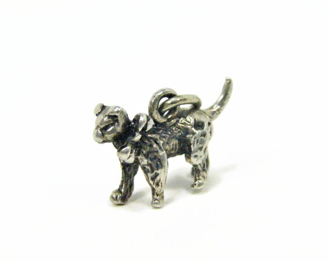 Vintage BEAU Sterling Silver Cat Charm