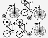 Custom Order Bicycle Wall decals, Vintage Bicycle,