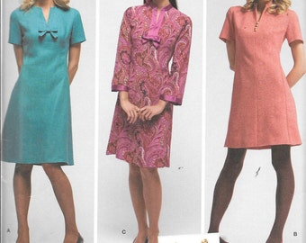 Simplicity 3559 Dress Sewing Pattern Retro Vintage 1960s Mod Mad Men Size 6, 8, 10, 12 and 14 Bust 30.5, 31.5, 32.5, 34 and 36