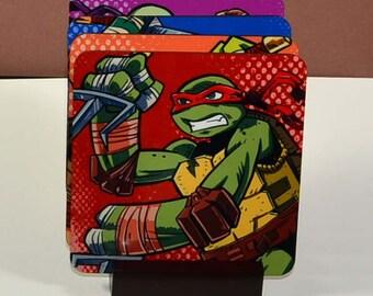 Ninja Turtle Coasters, Set Of Drink Coasters , Hardboard Beverage Coasters, Drinkware, Barware, or Christmas Gift