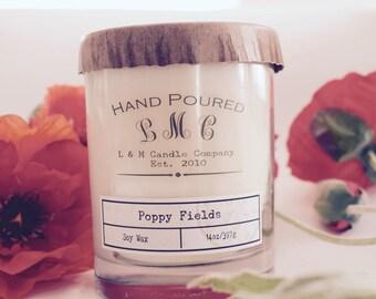 Poppy Fields 14 oz Soy Candle