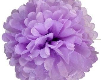 Lavender Tissue Pom Pom 4, 6, or 8 inch Set of 2 /Weddings/Showers/Birthdays/Parties