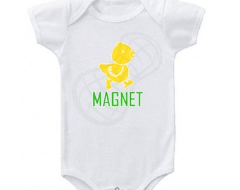 Chick Magnet, Baby boy onesie, Baby onesie, newborn outfit, Baby shower gift