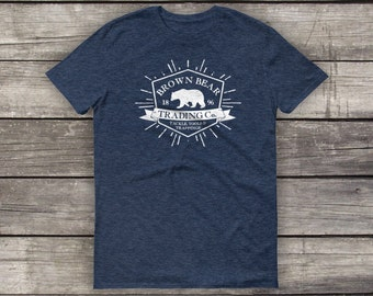 Brown Bear Trading - Preshrunk Cotton T-Shirt - by Alpine Graphics - Choose Size and Color - T026