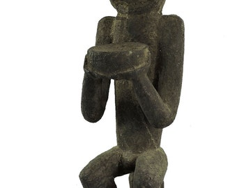 Baule Mbra Seated Monkey Cote d'Ivoire African Art 21 Inch 109589