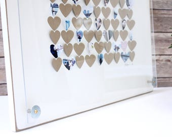 Guestbook Hearts Guest book Alternative Guest Book Hearts Wedding Sign In Wedding Guest book Hearts Wedding Guestbook Heart Guestbook frame