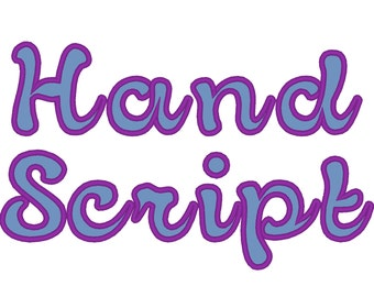 Calssy hand writing script applique Font machine embroidery applique designs, monogram, alphabet  2.5, 3, 4 inches BX and other formats