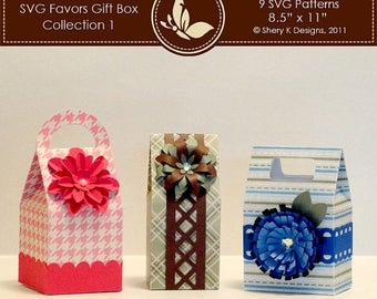 40% off SVG Favors Gift Box Collection 1