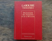 Vintage French Larousse Red Dictionnaire des Antiquites et de la Brocante Antiques Reference Book Dictionary Hardback 1984 / English Shop