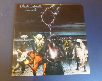 Black Sabbath Live Evil Double Vinyl Record 23742-1 G 1982
