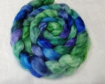 Hand Dyed Young Mohair Top  -  4 ounces