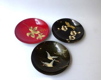 ON SALE Vintage collection of 1960s Japanese lacquer and plastic serving bowls