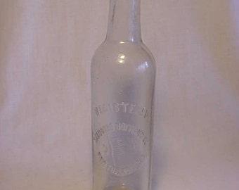 c1900 Standard Bottling Co. Pawtucket, R.I. , Clear Blown Glass Crown Top Soda Fountain Soda Bottle