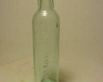 c1890 Sirop D'Anis Gauvin, Aqua Cork Top Morphine Baby Medicine bottle No. 2
