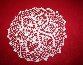Vintage Hand Crocheted Doily- 9 inch