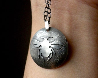 Sterling Bee Necklace -Bee Totem