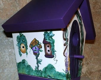 Hand Crafted & Hand Painted Bird House, Made In The USA - Ready To Ship