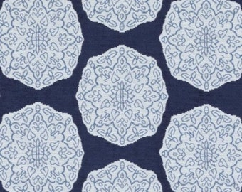 Designer Pillow Cover - Lumbar, 16 x 16, 18 x 18, 20 x 20, 22 x 22, Euro JR Medallion Indigo