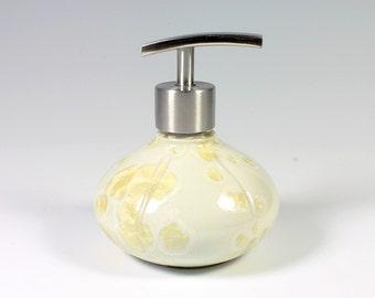 Sunny Yellow Crystalline Glazed Lotion/Soap Pump