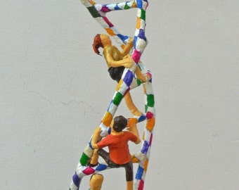 DNA Ladder Climbers Original Paper Sculpture