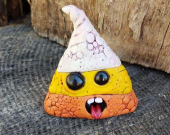 Snake Skin Candy Corn Polymer Clay Sculpture