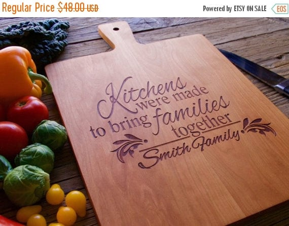 Spring Sale - Engraved Cutting Board, Cutting Board, Personalized Cutting Board, Personalized Wedding Gift, Wedding Gift, Christmas Gift