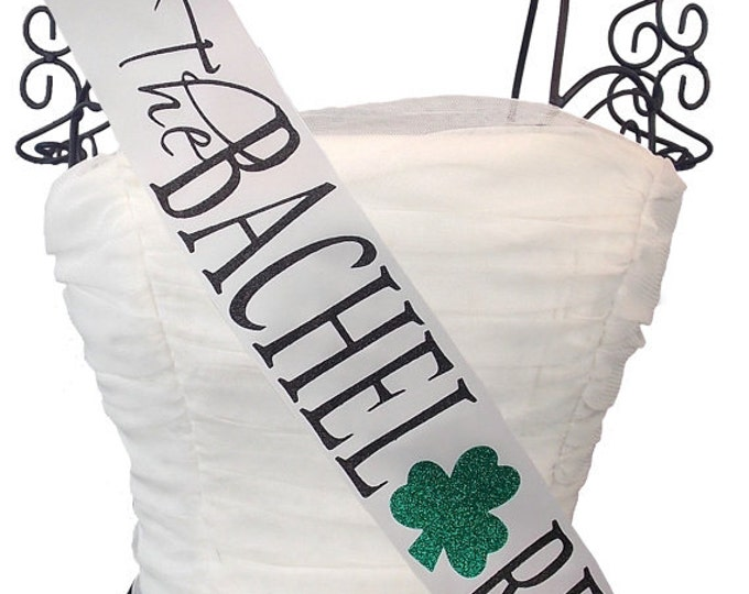 Bachelorette Sash Future Mrs. Irish Themed