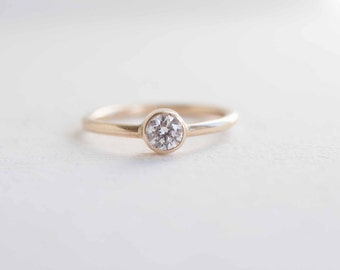 0.3 Ctw Diamond Solitaire Engagement Ring   14k Recycled Gold
