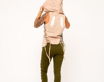 Festival Vest- Steampunk Vest- Burning Man Vest- Boho- Gypsy