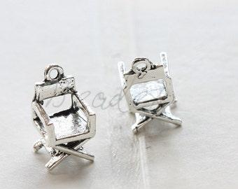6 Pieces / Chair / Oxidized Silver Tone / Base Metal / 18*9.5mm (X2029//H413)