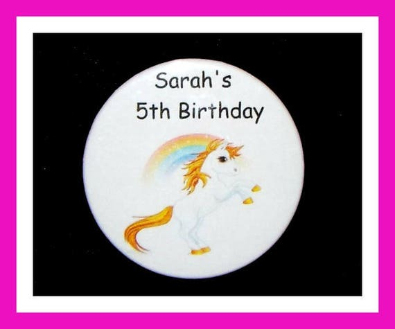 Birthday Party Favors, Personalized Button,Unicorn Pin Favor,School Favors,Kids Party Favor,Boy Birthday,Girl Birthday,Pins,Tags, Set of 10